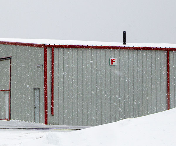 ArcticVent on industrial roof in Winter